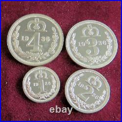 1936 EDWARD VIII 4 COIN SILVER PROOF PATTERN MAUNDY SET boxed/coa