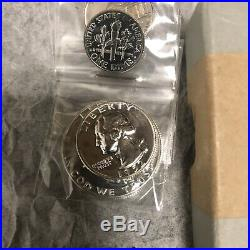 1952 SILVER PROOF SET 5 coins with original box and packing