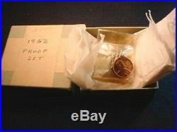 1952 Us Silver Proof Set In Original Mint Box 90% Silver Coins! #23