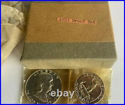 1953 U. S. SILVER PROOF Mint Coin Set in Original Box withTissue & Cellophane
