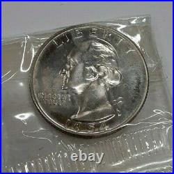 1954 US Mint Silver Proof Set 5 Gem Coins in Original Mint Box Not Stapled
