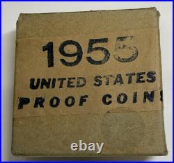 1955 US Mint Silver Proof Coin Set Original Box Tissue Uncirc Uncirculated