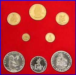 1973 Gold & Silver Haiti Gourdes 9 Coin Proof Box Set 1,250 Minted