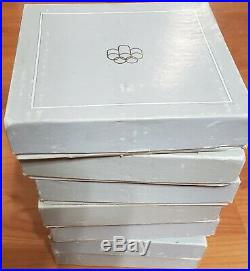 1976 CANADA Olympic 28 Sterling Silver PROOF Coins & 7 Wood Cases/Boxes & COA's