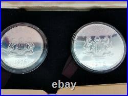 1976 MALAYSIA Proof Silver Coin Set 15 & 25 Ringgit Wildlife in Original Box+COA