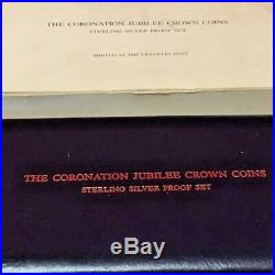 1978 Coronation Jubilee Crown Coin Sterling Silver 5 Coin Proof Set-Sealed withBox