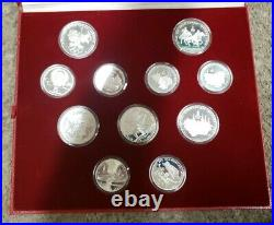 1980 Moscow Olympic 28 Silver Coin Proof Set With Box & C. O. A