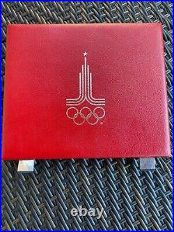 1980 Moscow Summer Olympics Russia USSR Silver 28 Coin Proof Set With Box