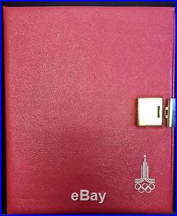 1980 RUSSIA USSR MOSCOW OLYMPICS PROOF SILVER SET (28) with COA 21 Oz -RED BOX