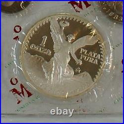 1982-1983 8 Coin Casa De Moneda De Mexico Proof Set With Original Boxes & COA's