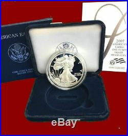 1986 2018 AMERICAN EAGLE PROOF SILVER DOLLAR, set in mint boxes and coa