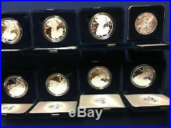 1986 2019 AMERICAN EAGLE PROOF SILVER DOLLAR- SET of 34 coins in US MINT BOXES