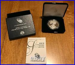 1986-2019 American Silver Eagle Proof Set of 34 Coins in US Mint Boxes with COAs