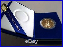 1986 One ounce American Eagle proof Gold Bullion Coin with CoA and Box