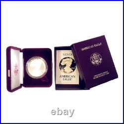 1986-S 1 oz American Silver Eagle Proof With Box and COA