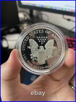 1988 American Eagle 1oz Silver Proof Bullion Coin with COA and Box US Mint