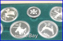 1988 Calgary Canadian Winter Olympics 10-Coin Proof Set COA Box