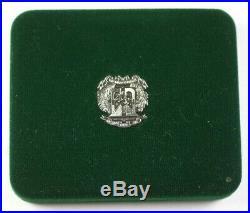 1988 Dominican Republic 100 Pesos Large Proof Silver Coin with Box+Case & COA