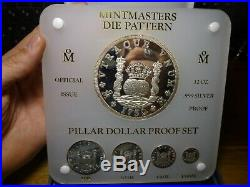 1988 Mexico City Mint Silver Restrike 1732 Pillar Dollar 5 Coin Proof Set With BOX