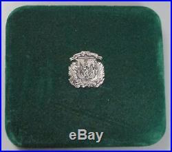 1990 Silver Dominican Republic Proof 100 Pesos 5 Oz Coin 1,000 Minted Box & Coa