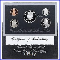 1992-1998 Proof Set Run Original Box 90% Silver 7 Sets 35 Coin Lot US Mint