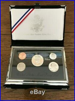 1992-1998-S Silver US Premier Proof Sets COMPLETE RUN. US mint box and COA