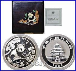 1992 China 10 Yuan Proof Silver Panda Mint Capsule With Box And COA