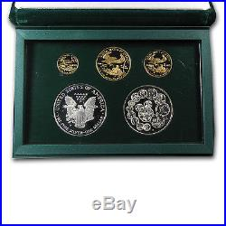 1993 5-Coin Proof Gold & Silver Philadelphia Set (withBox & COA) SKU #14068