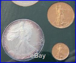 1993 P American Gold & Silver Eagle 5-Coin Philadelphia Proof Set WithBox & COA