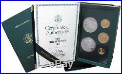 1993 Philadelphia Proof Gold & Silver Eagle Set withBox/COA Super Nice Quality