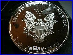 1993 Silver 1 POUND Proof Eagle 12 Troy Ounces 999 Box COA
