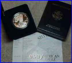 1994-P American Eagle Silver Proof One Dollar Coin with COA and Box
