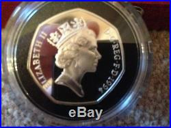 1994 Silver Proof 50p Coin £50 Banknote Set Box COA Royal Mint D-Day