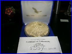 1994 Silver Proof Eagle 16 Troy Ounces 999 Box COA