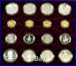 1995 1996 US Atlanta Olympic Games 32 Gold & Silver Coin Proof UNC Boxed Set