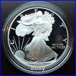 1995 American Gold & Silver Eagle Proof 1.85 oz Gold US 5 Coin Set Box & COA