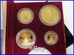 1995-W American Eagle 10th Anniversary Gold PROOF Set Box & COA, No Silver $