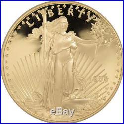1995 W American Eagle 10th Anniversary Gold & Silver Proof Set with box & COA