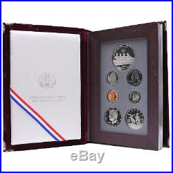 1996 S Prestige Proof Set Silver Dollar 7 US Mint Coins No Outer Box or COA