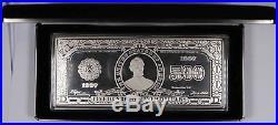 1997 $500 Washington Mint Proof Art Bar 8oz Troy. 999 Silver with Box
