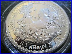 1997 Royal Mint Britannia 10th Anniv £2 Two Pound Silver Proof 1oz Coin Box Coa