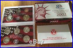 1999 2000 01 02 03 04 05 06 07 08 09 2010 Silver Proof Set US Mint Box and COA