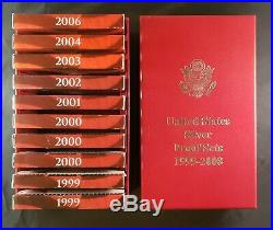 1999 -2006 Silver Proof US Mint 10 Sets with Storage Box Prices Rising! 2x99