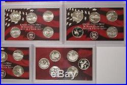 1999-2008+2009 SILVER STATE QUARTER PROOF SETS 11 SETS 56 QUARTERS no box or COA