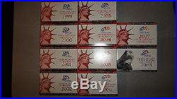 1999-2008 Complete Silver Proof Sets With Boxes, COA'S And Bonus Storage Box
