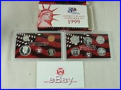1999 2008 Complete U. S. Silver Proof Coin Set Of Ten With Boxes, COAs Mint