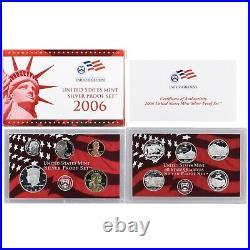 1999-2008 S Proof Set Run Box & COA 90% Silver US Mint 10 Sets 109 Coins