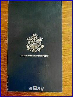 1999-2008 US MINT SILVER PROOF SETS w OGP & Storage Box
