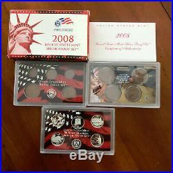 1999-2009 Silver Proof Statehood Quarter 11 Yr 56 Pc Set Complete-Boxes & COA's