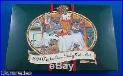 1999 Koala BABY PROOF MINT 6 COIN SET with silver medallion in box with cert